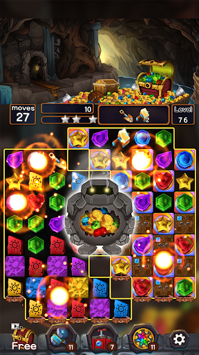 Jewel Mine Quest: Match-3 puzzle apkmr screenshots 6