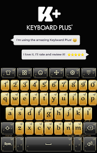 Gold Butterfly Keyboard - náhled