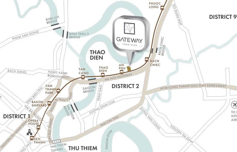 vị trí gateway Thảo Điền