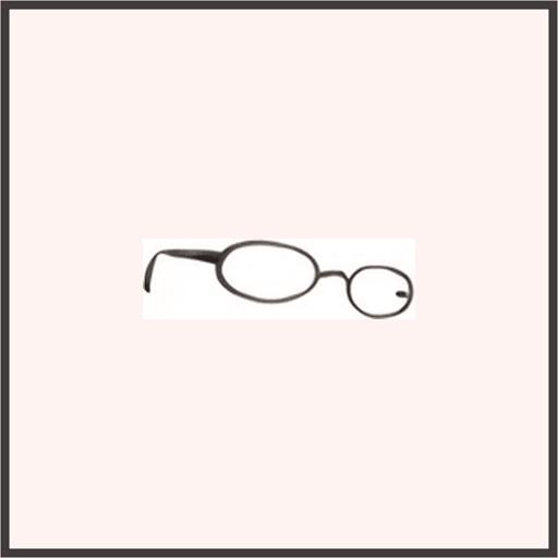普通のメガネ(黒)