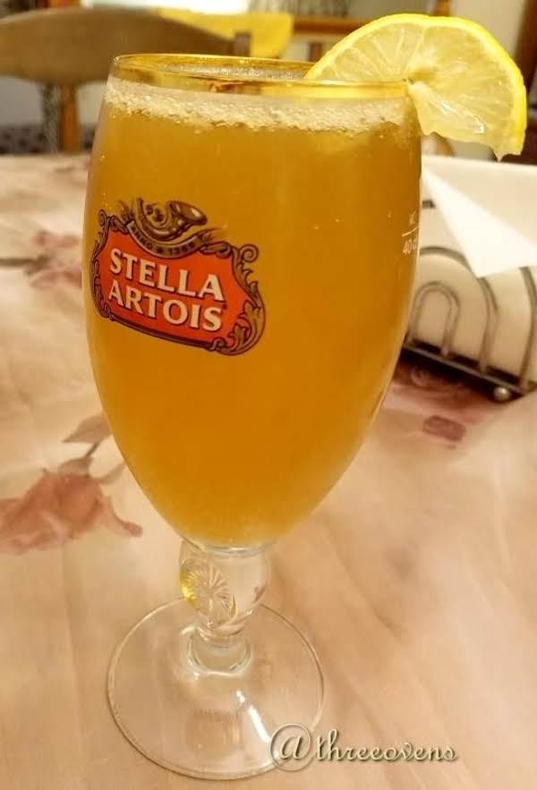 Lemony Fresh Radler In A Glass.