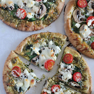 Easy Pesto Pita Bread Pizzas