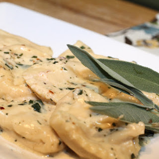 Roasted Fig and Goat Cheese Raviolis A Simple Sage Sauce.