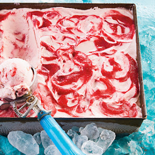 No-Churn Rhubarb Ginger Ice Cream.