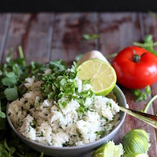 Homemade Cilantro Lime Rice.