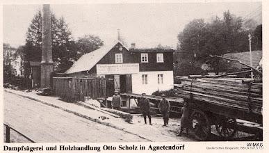 Photo: Agnetendorf, Dampfsaegerei Otto Scholz