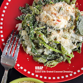 Urap - Salad with Grated Coconut Dressing.