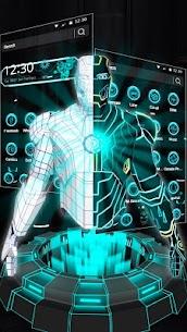 3D Neon Hero Theme apk download 1
