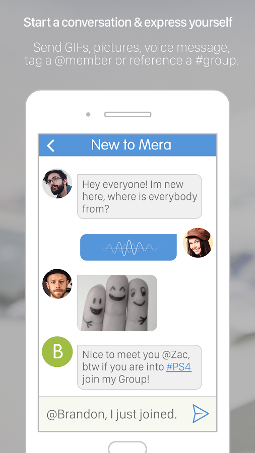 Mera - Group chat messenger- screenshot