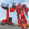 Excavator Robot Transformation: Robot Shooting icon