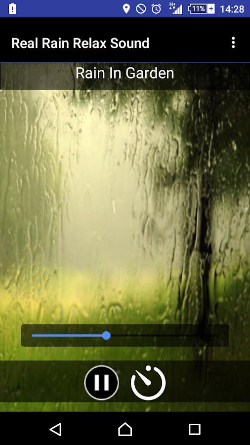 Πραγματική Βροχή - Ήχοι - στιγμιότυπο οθόνης