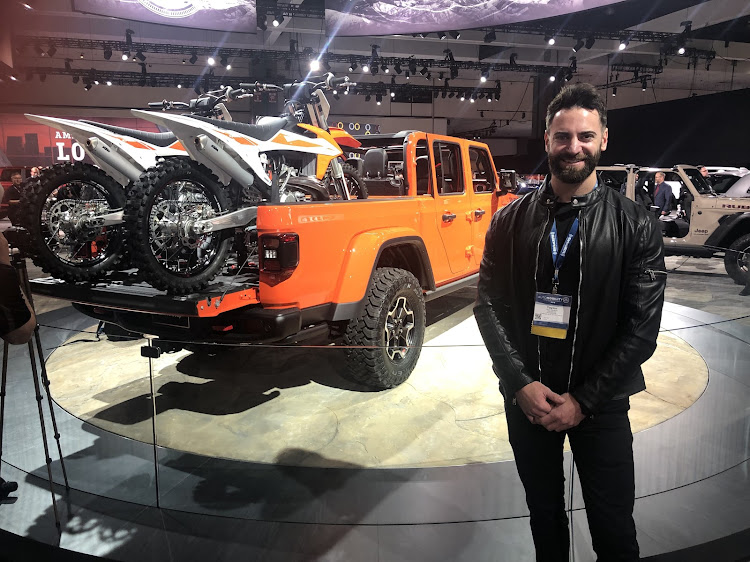 Taylor Langhals, lead exterior designer for the new Jeep Gladiator, designed it will dirt bike transport in mind. Picture: MARK SMYTH