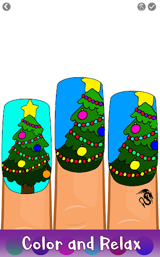 Christmas Nails Color by Number - Girls Coloring 1.1 screenshots 2