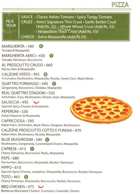 Amici Cafe menu 5
