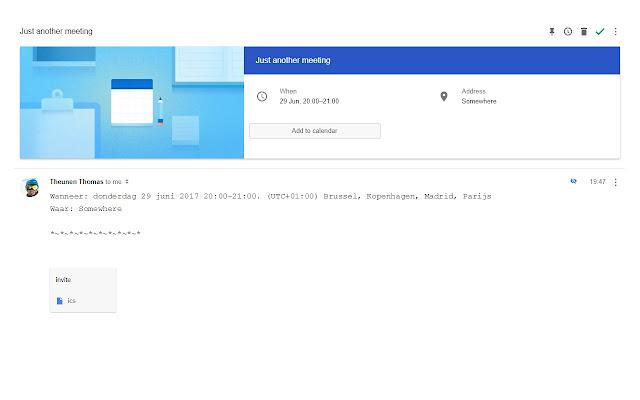 Google Inbox - Calendar button