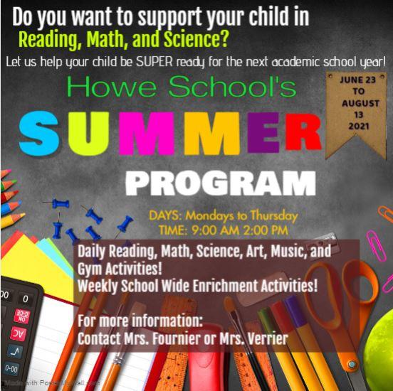 Summer Program Announcement!