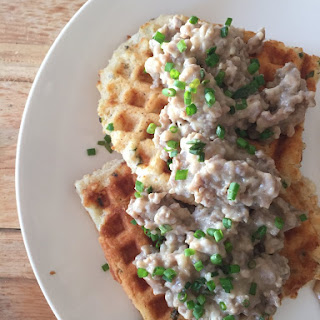 Waffles With Savory Sausage Gravy