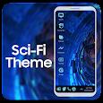Sci fi theme for computer launcher icon