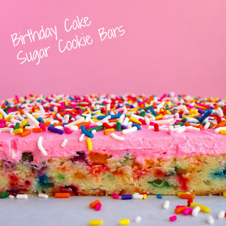 Birthday Cake Sugar Cookie Bars