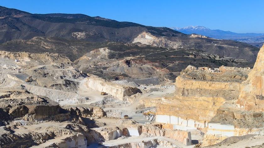Paisaje de canteras de Macael, en una imagen de Filming Almería.