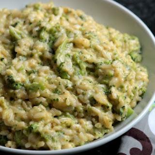Broccoli and Cheese Risotto.
