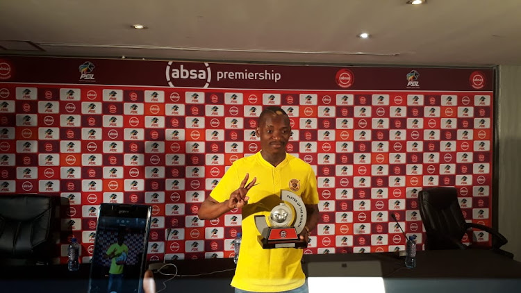 Khama Billiat of Kaizer Chiefs during the Absa Premiership 2018/19 Coach and Player of the Month Announcement at the PSL Offices, Johannesburg on 03 October 2018.