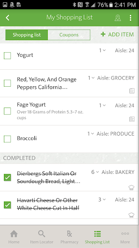 Grocery coupon ipad app