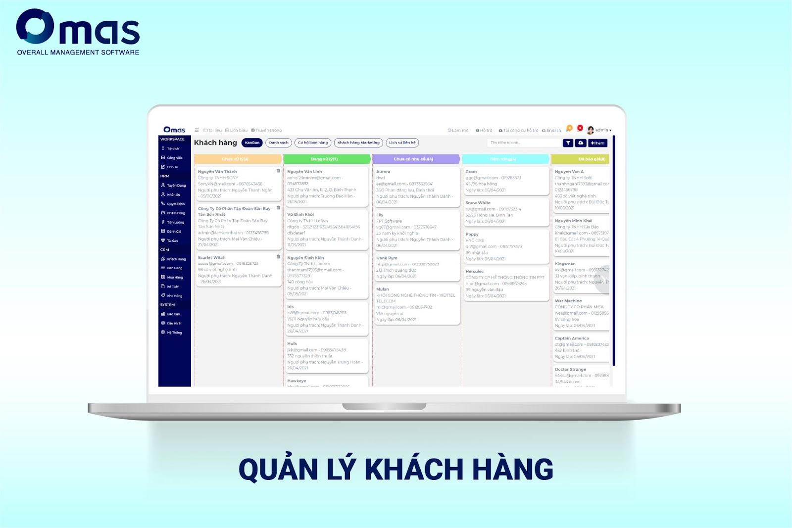 Omas - Hệ thống quản lý khách hàng hiệu quả