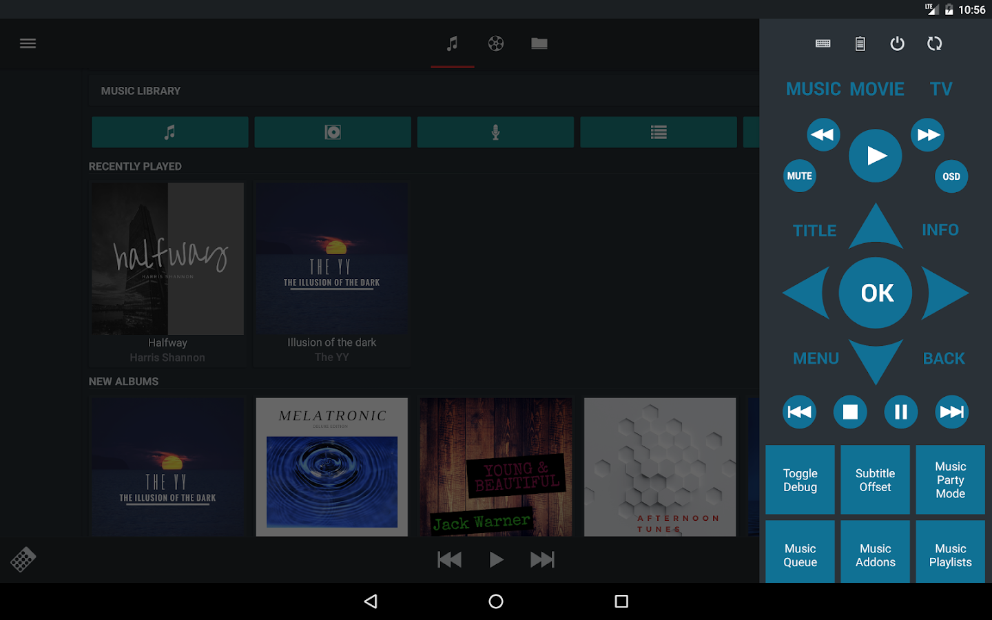 Music Pump XBMC / Kodi Remote- screenshot