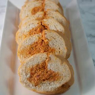 Stuffed Baguette With Sun-Dried Tomato Tapenade