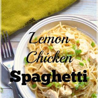 Lemon Chicken Spaghetti Toss