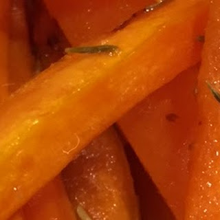 Maple and Thyme Roasted Carrots.