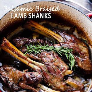 Balsamic Braised Lamb Shanks.