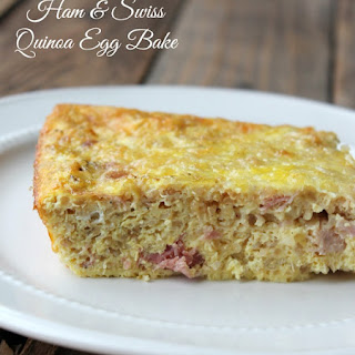 Ham and Swiss Quinoa Egg Bake