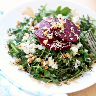 Roasted Beet Salad with Arugula & Goat Cheese