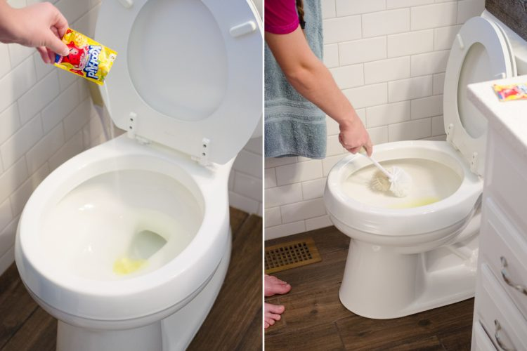 This one strange ingredient will get rid of those stubborn water stains in your toilet