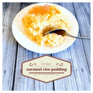 Crockpot Caramel Rice Pudding.