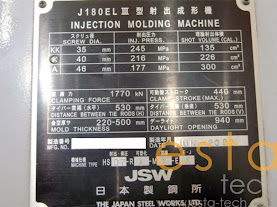 JSW J180ELIII (2002) All Electric Plastic Injection Moulding Machine