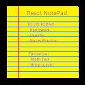 React NotePad icon