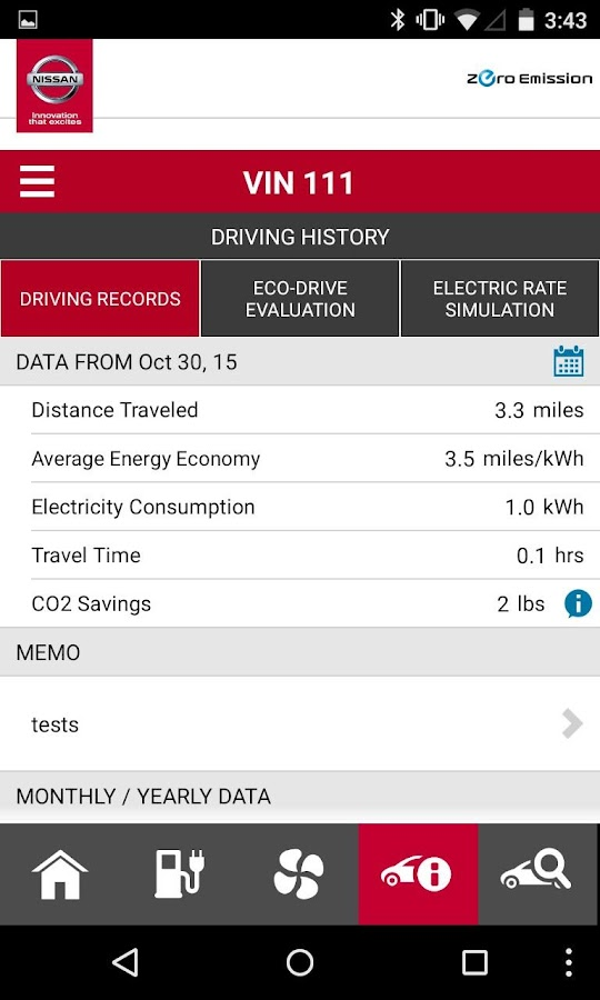 NissanConnect℠ EV- screenshot