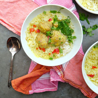 Ginger Pork Meatballs with Coconut Broth Recipe