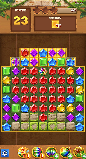 Jungle Gem Blast: Match 3 Jewel Crush Puzzles 4.2.5 screenshots 7