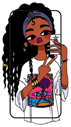 Cute black girls wallpaper melanin screenshot 10