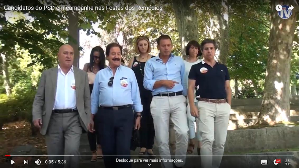 Vídeo - Candidatos do PSD em campanha nas Festas dos Remédios