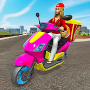 Moto Bike Pizza Delivery 2019 – Girl Food Game