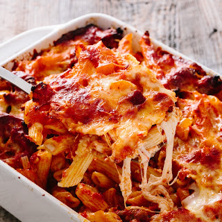 Italian Sausage and Peppers Baked Ziti.