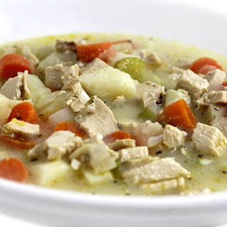 Creamy Chicken and Potato Soup Made Skinny