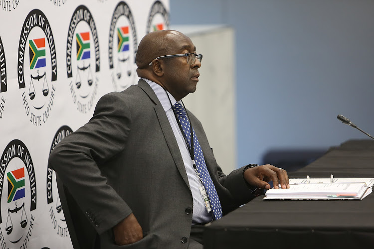 Former Finance Minister Nhlanhla Nene concluding his testimony at the commission of inquiry into state capture on Thursday, March 14 2019.
