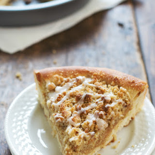 Deep Dish Cinnamon Streusel Dessert Pizza.