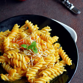 Creamy Pasta with Pumpkin Sauce.
